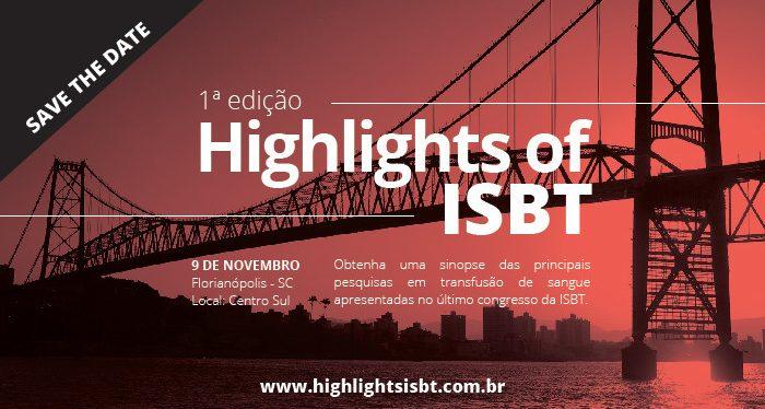 ABHH promoverá 1°edição do Highlights of ISBT