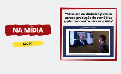 """Presidente da ABHH, Dante Langhi sobre """"Mau uso do dinheiro público atrasa produção de remédios gratuitos contra câncer e Aids"""" – Globo"""