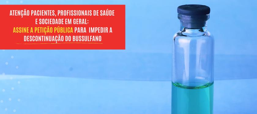 Descontinuação da produção do medicamento Bussulfano