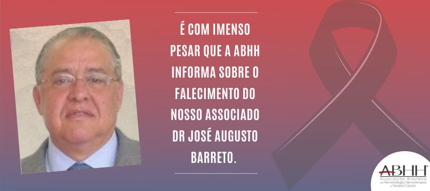 Nota de Falecimento – Dr José Augusto Barreto.